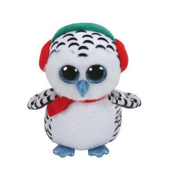 TY Boo's Kerst Uil Knuffel Nester 15 cm