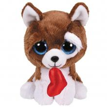 TY Beanie Boo's Knuffel Hond Smootches met Hartje 15 cm